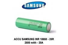 Accus Samsung 18650 25R 2500 mAh